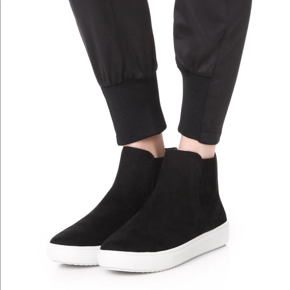 Shoes | Black High Top Slip Ons Coal By